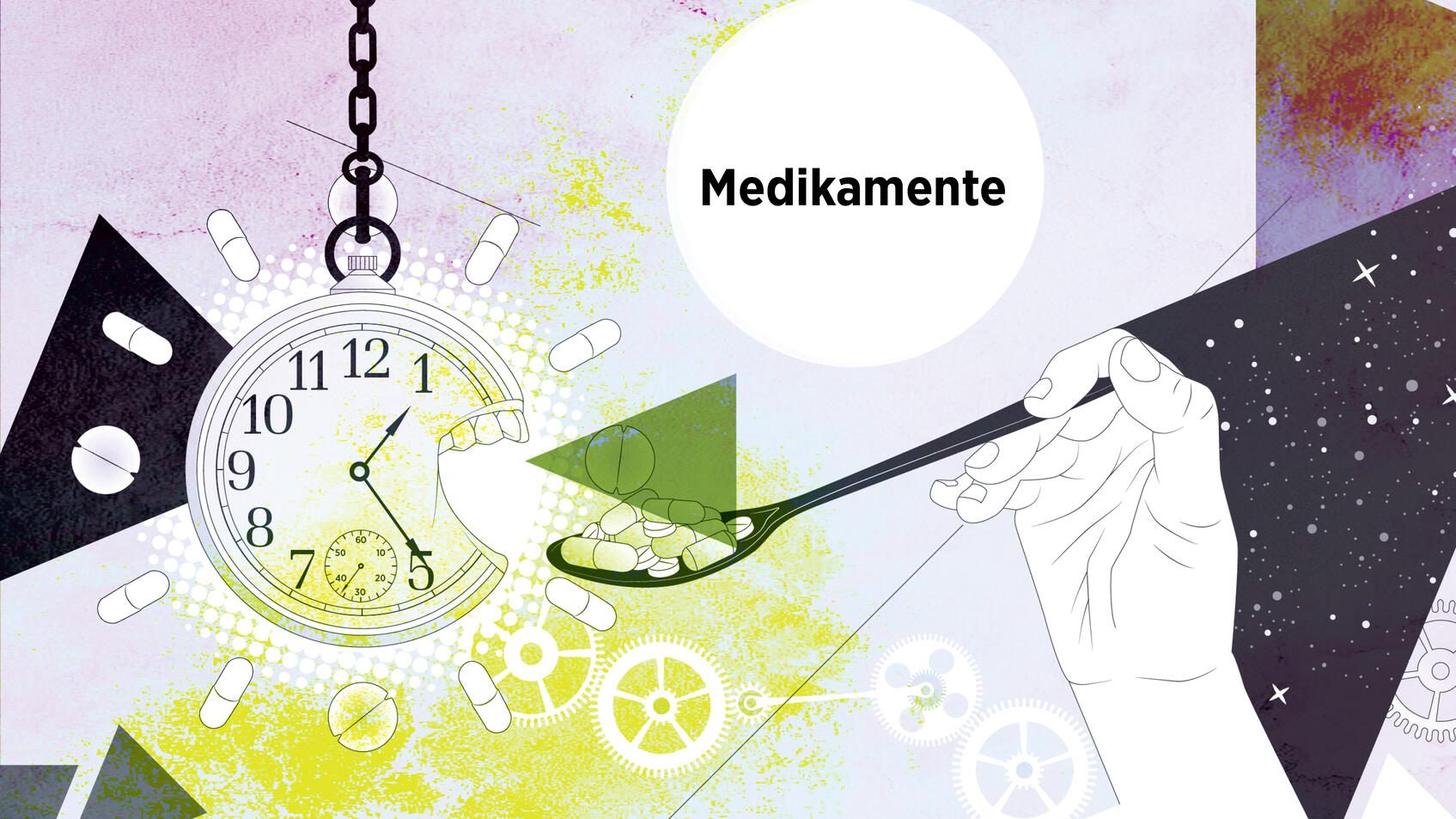 Illustration: Innere Uhr – Medikamente