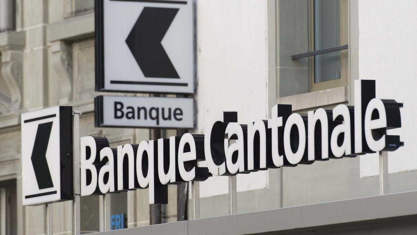 The logo of the cantonal bank of Fribourg, in Fribourg, Switzerland, on June 2, 2017. (KEYSTONE/Thomas Delley)Le logo de la Banque Cantonale du Fribourg, BCF, le 2 juin 2017 a Fribourg. (KEYSTONE/Thomas Delley)