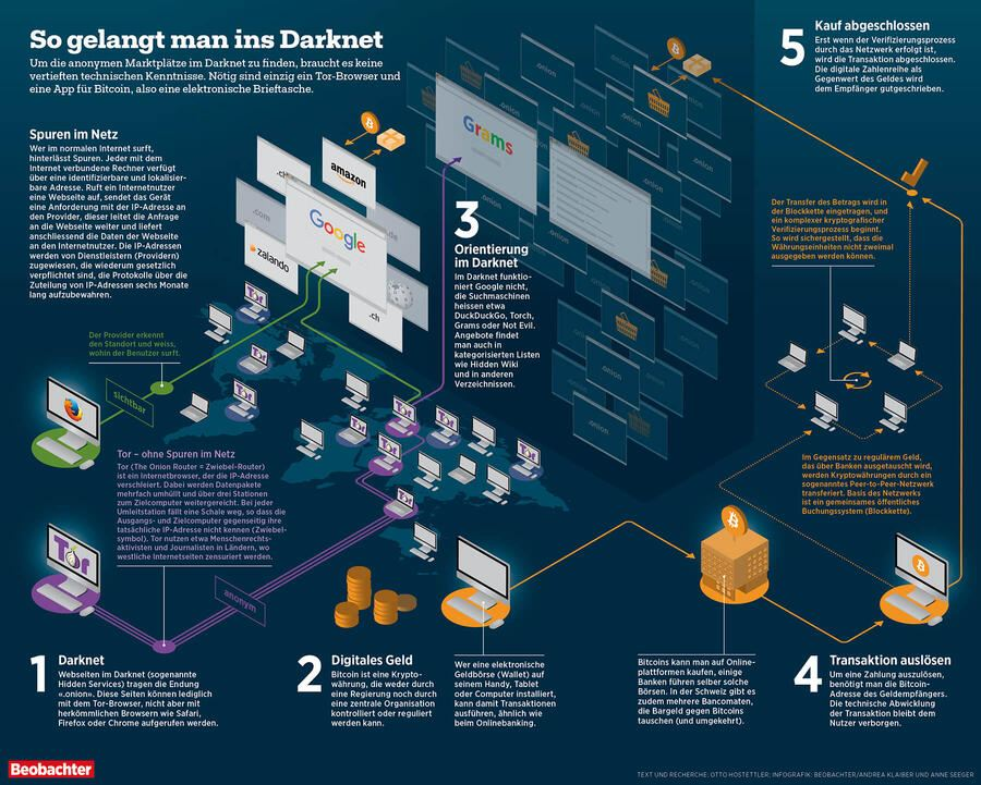 Infografik: So gelangt man ins Darknet