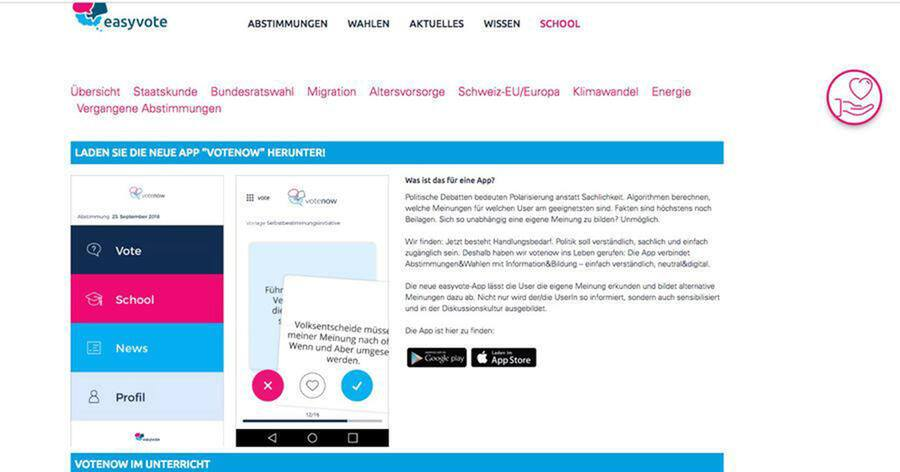 Screenshot Website Easyvote