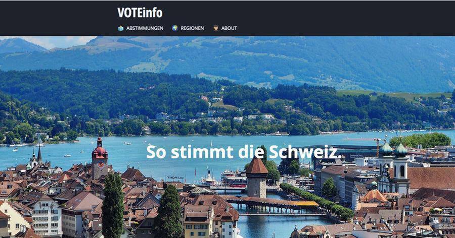 Screenshot Website Voteinfo